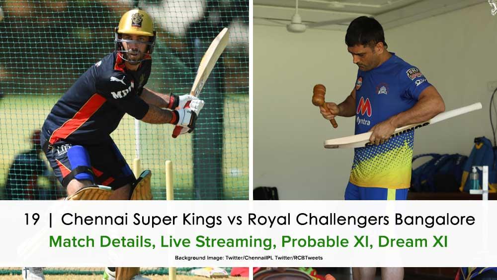 IPL 2021 Chennai Super Kings vs Royal Challengers Bangalore