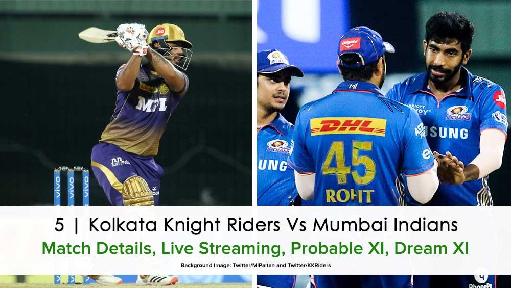 IPL 2021 Match 5 KKR vs MI