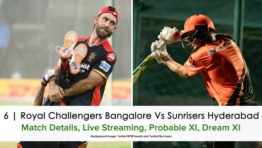 IPL 2021 Match 6: Bangalore vs Hyderabad