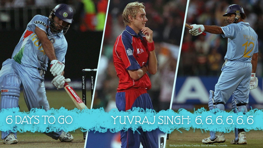 Yuvraj Singh hits 6 sixes in an over against Stuart Broad at World T20 2007