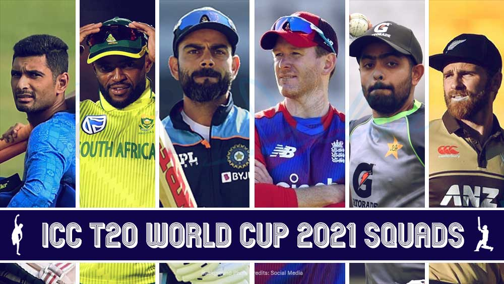 ICC Men's T20 World Cup 2021 Squads List in Detail